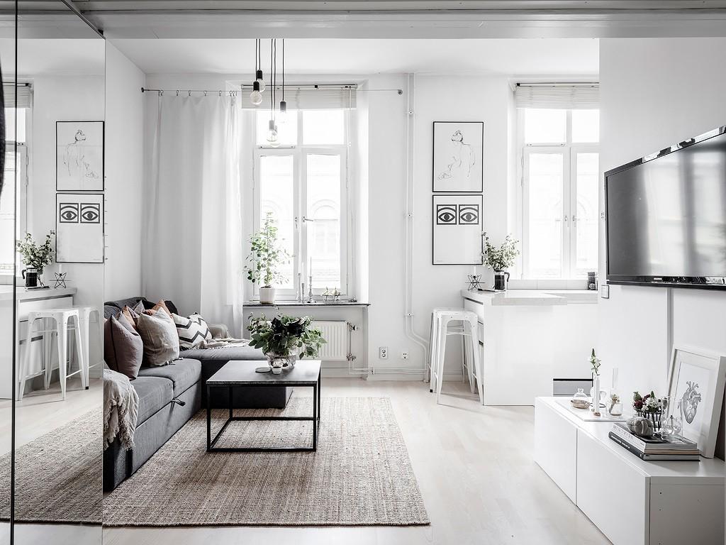 32 m² con todo lo necesario para una persona para vivir