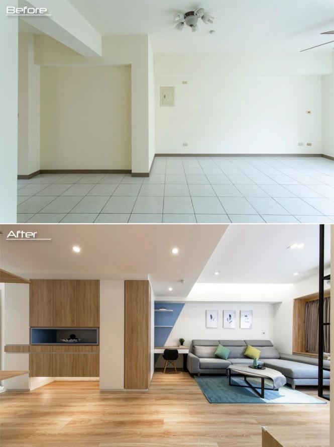 estilo moderno nórdico diseño de interiores decoración de interiores antes después decoración