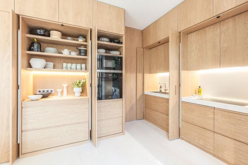 piso barcelona estilo escandinavo barcelona espacio de almacenaje distribución abierta diseño español cocina madera