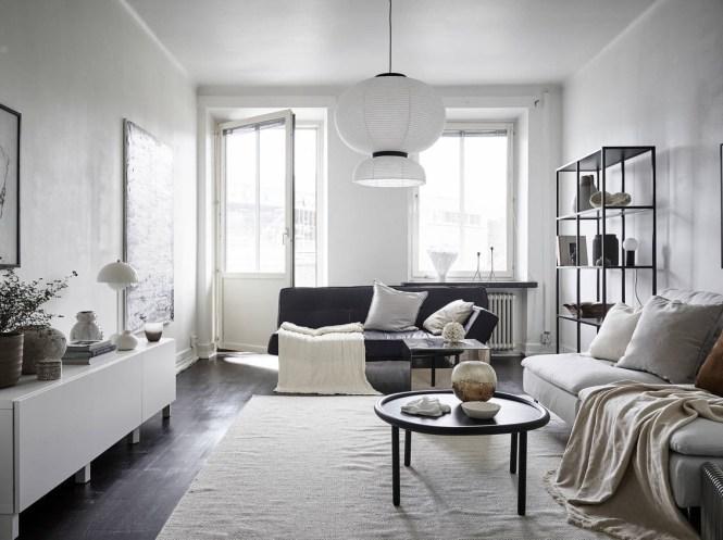 mesa comedor redonda diseño interiores nórdicos decoración comedores comedores nórdicos comedor en el pasillo apartamento sueco