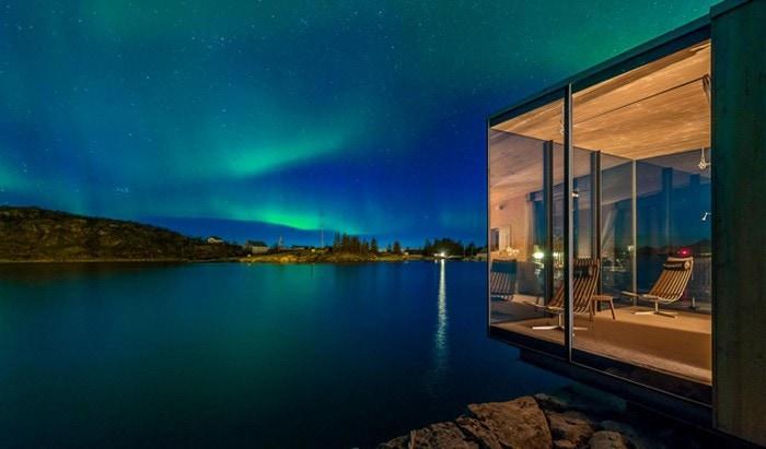 hoteles noruegos deco hoteles nórdicos hoteles escandinavos estilo minimalista hoteles decoración hoteles auroras boreales hoteles