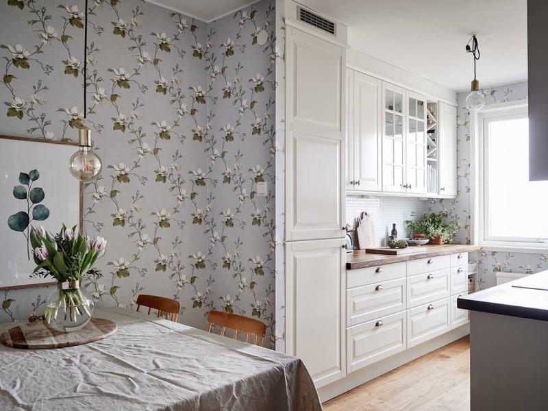 Papel pintado papel pared cocina papel floral cocina papel de pared floral cocina rústica cocina romántica femenina cocina pequeña cocina country cocina campestre