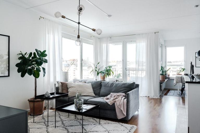 reforma diáfana piso pequeño piso sueco abierto piso pequeño sin paredes distribución abierta decoración pisos pequeños cocina abierta