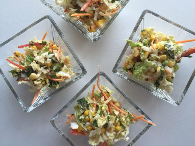 Balance your Grilled Feast with this Fabulous Corn & Cabbage Slaw!
