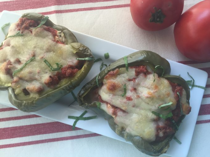 Portion Control; Serve your Stuffed Bell Peppers in Half!