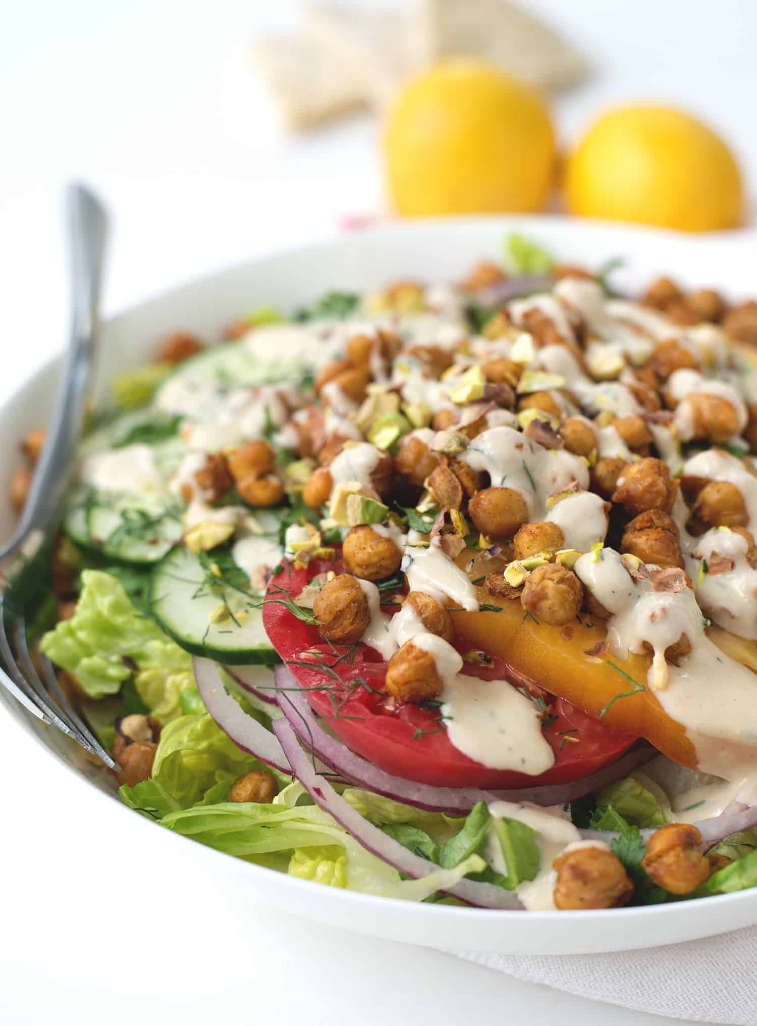 roasted chickpea salad with
