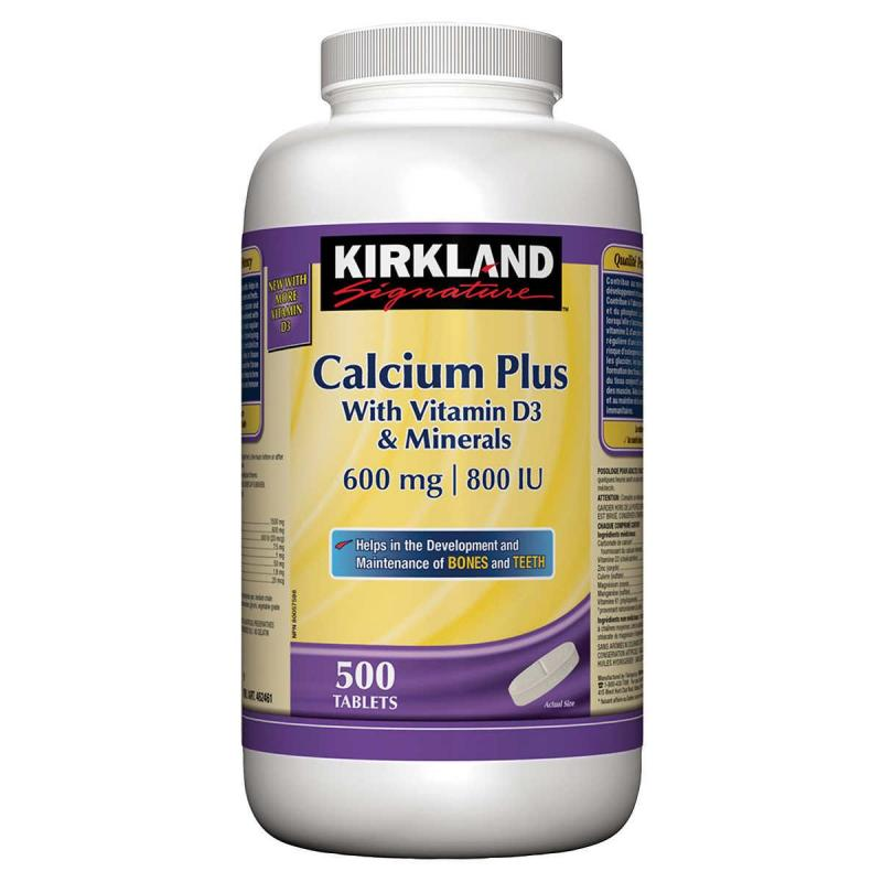 Kirkland Signature Calcium Plus avec vitamine D3 et ...