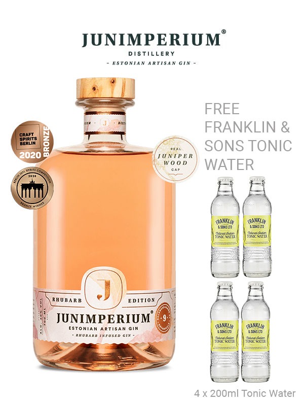 Junimperium Rhubarb Infused Gin Offer