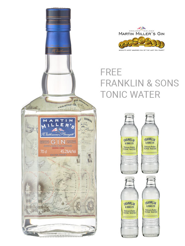 Martin Miller's Westbourne Strength Gin and Tonics.