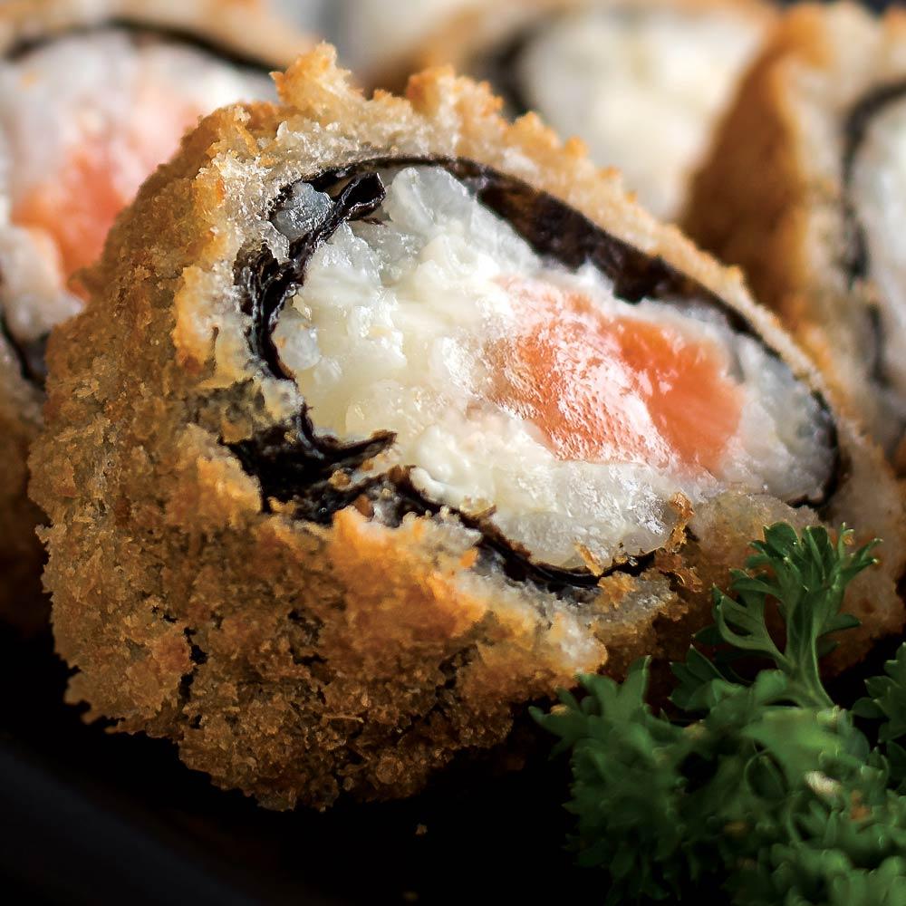 Roll Hot Philadelphia Crocante - Delivery Sushi Rão, o Maior do Brasil. O melhor da Comida Japonesa na sua casa!