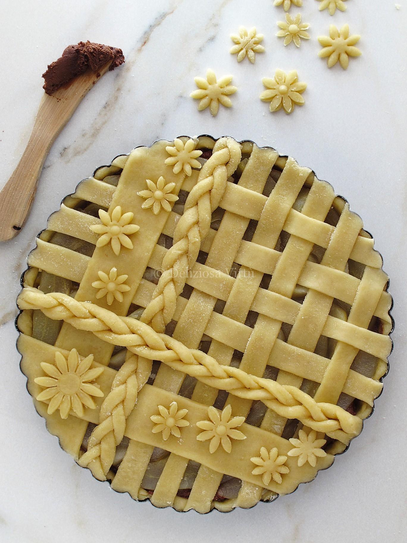 Crostata con ricotta pere e cioccolato  Deliziosa Virt