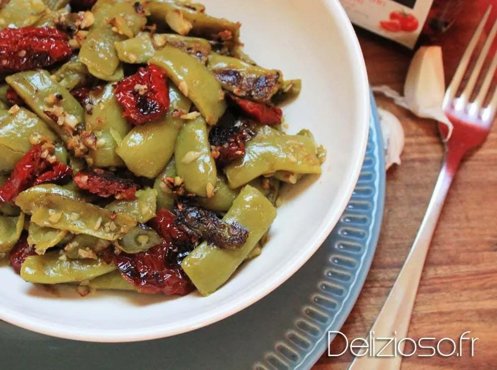 Haricots plats au tomates s ch es d lizioso - Cuisiner les tomates sechees ...
