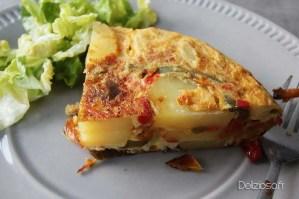 Tortilla aux Poivrons confits - Mijoteuse