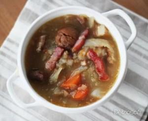 Soupe Ardéchoise… chou, chataîgnes, lard