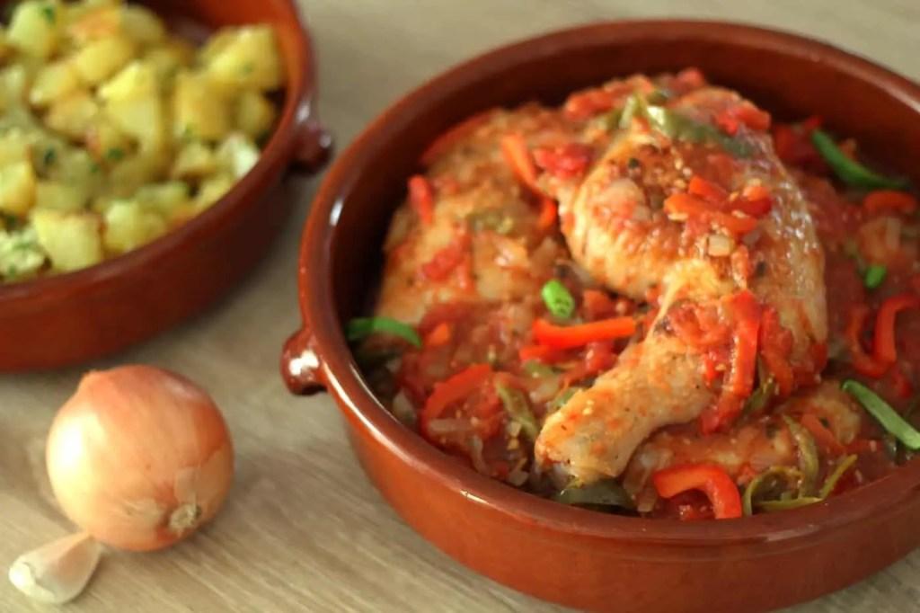 Poulet basquaise traditionnel d lizioso - Cuisine tunisienne traditionnelle four ...