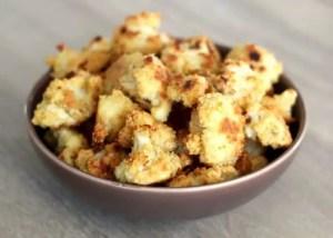 Chou-fleur pané au parmesan
