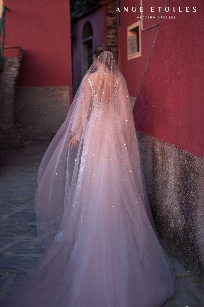 Long Veil with sequins