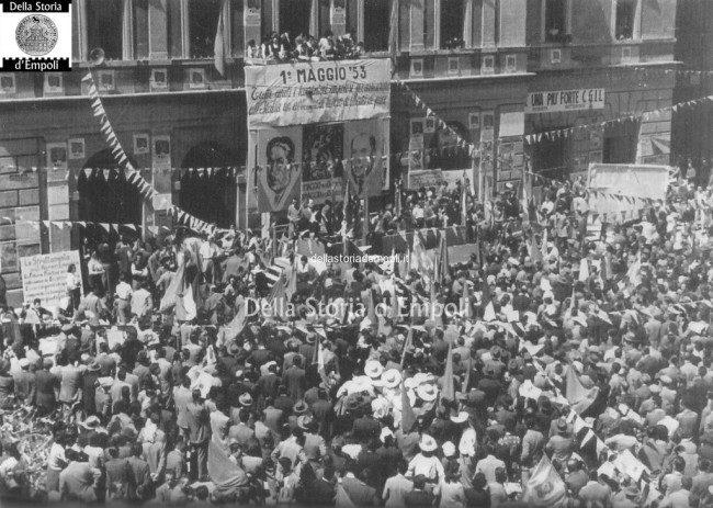 Comizio In Piazza Del Popolo 1° Maggio 1953