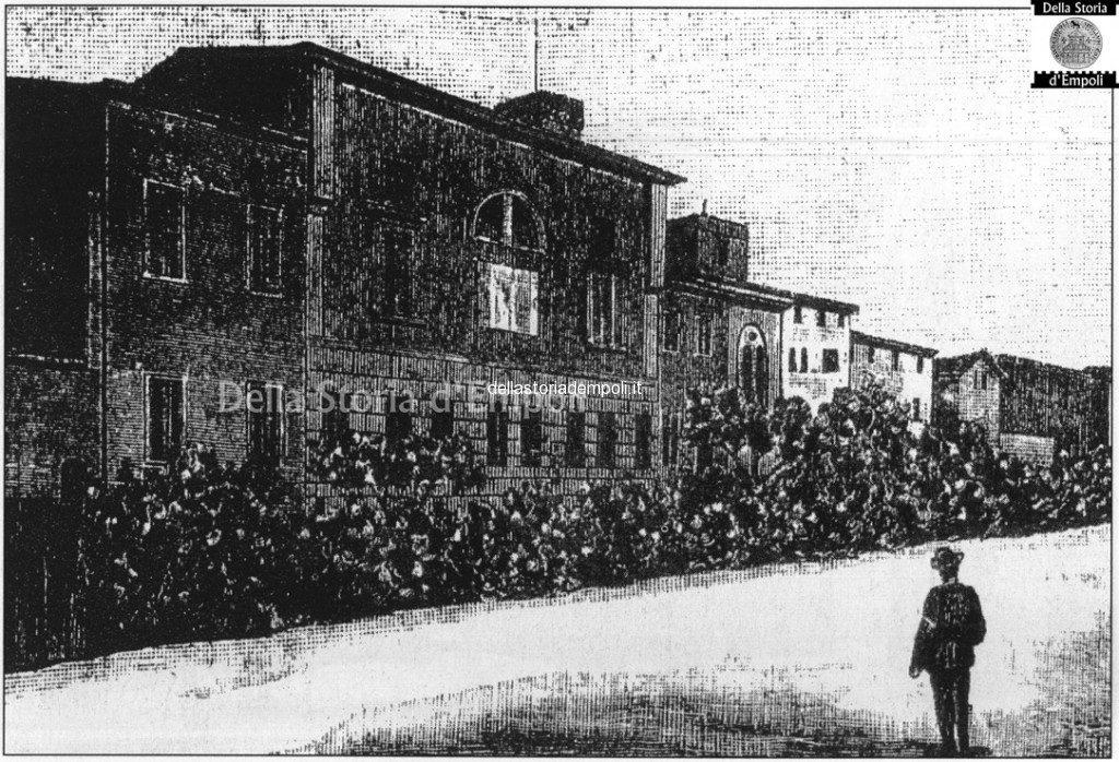 Empoli, Biblioteca Fucini In Una Vecchia Incisione