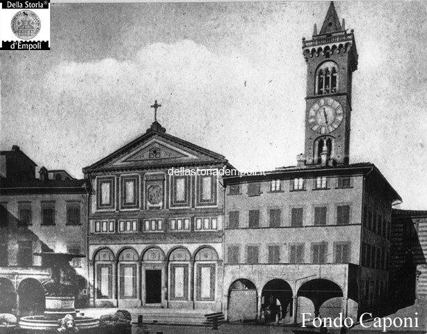Collegiata con campanile ed oriuolo, e Piazza Farinata degli Uberti detta Piazza dei Leoni