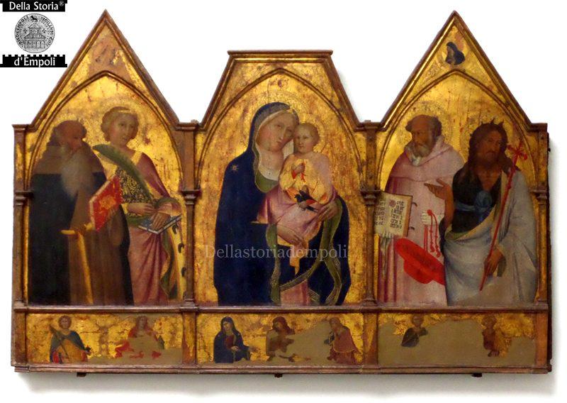Agnolo Gaddi: Madonna Col Bambino Tra I Santi Antonio, Caterina, Girolamo E Giovanni Battista, 1390 Ca;