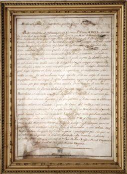 Atto di donazione 1649