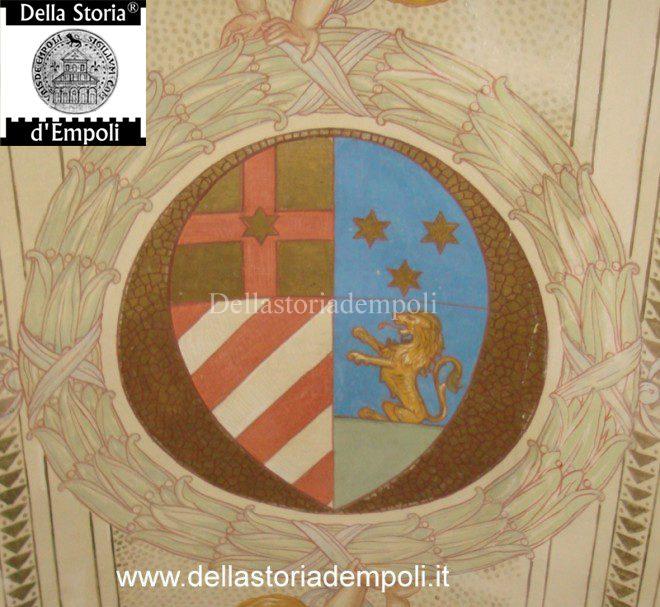 DEL VIVO stemma in piazza dei leoni