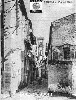 Empoli - Campanile di S. Agostino e via de' Neri visti da via Leonardo da Vinci