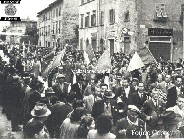 Empoli - Corteo elettorale in Via Roma