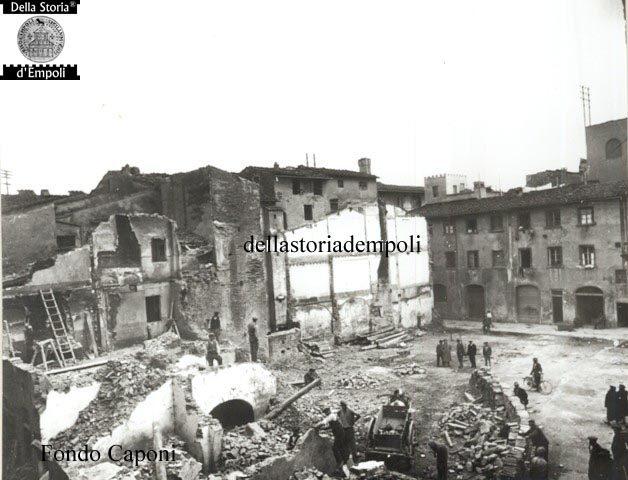 Empoli – Demolizione dell'ex quartiere ebraico per la futura Piazza del Littorio e Piazza del Popolo