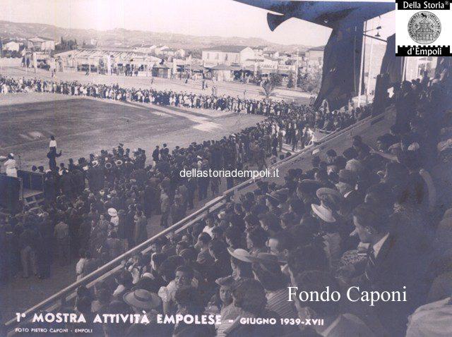 Fondo Caponi Empoli, Vol 2 Pagina 3: Mostra Delle Attività Empolesi Stadio Martelli Luglio 1939