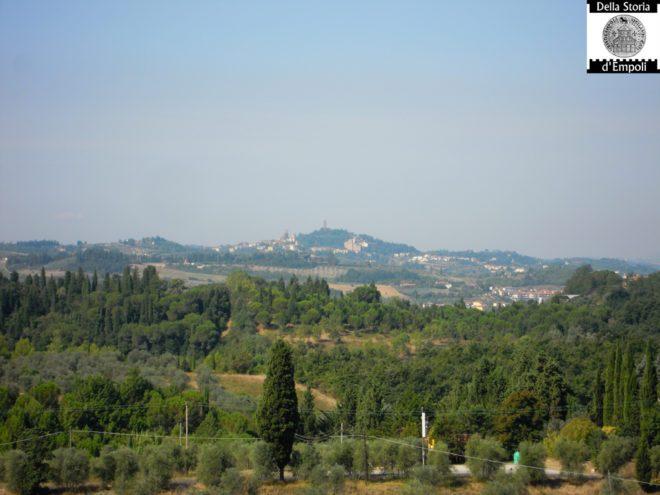 Panorama della rocca di San Miniato dal Terraio