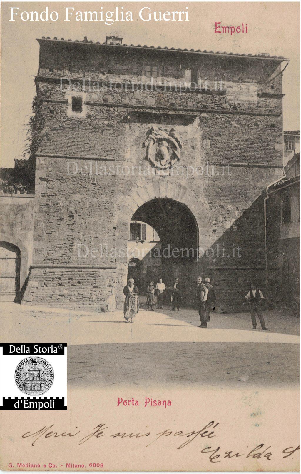 Porta Pisana: Nitida Immagine D'epoca, Dal Fondo Guerri