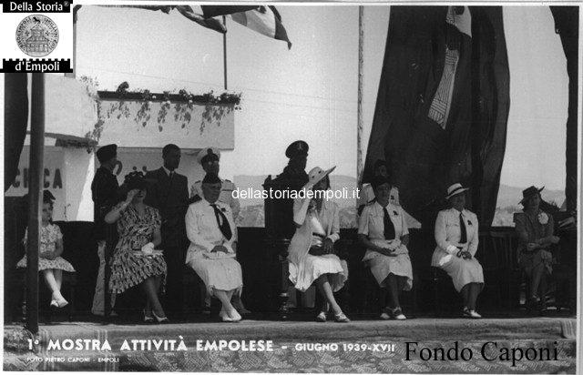 La Principessa Maria Josè allo Stadio Martelli per la Mostra delle attività empolesi 1939
