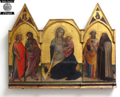 Lorenzo Monaco - 1404 - Trittico con Madonna con bambino tra i santi Donnino, Giovanni battista, Pietro e Antonio Abate