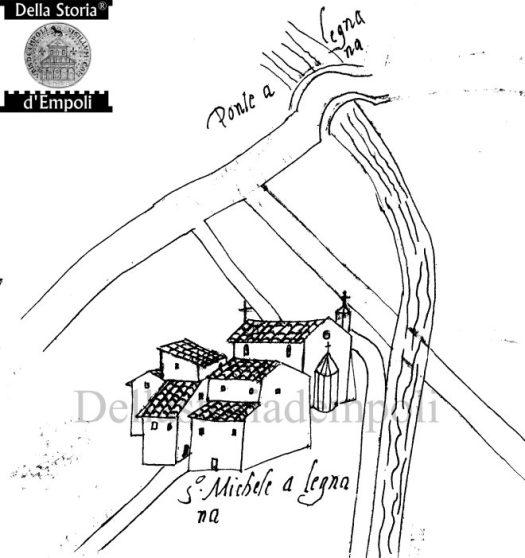 Rielaborazione parziale di Mappa dei Capitani di Parte 1580 - Calco di Carlo Pagliai