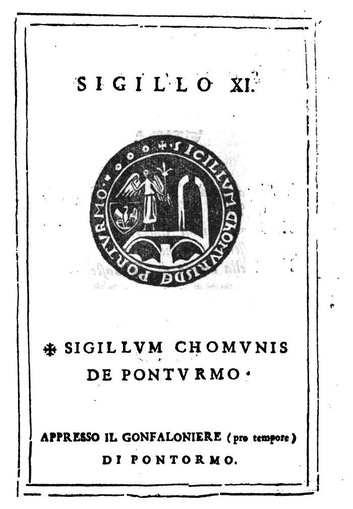 Antico Sigillo Del Comune Di Pontorme – Di Carlo Pagliai