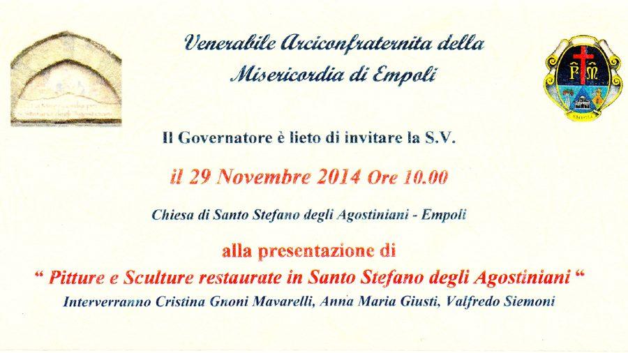 Pitture E Sculture In Sant'Agostino 29 Nov