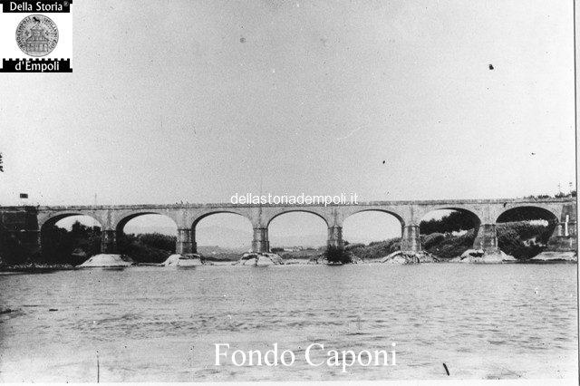 Fondo Caponi Empoli, Vol 1 Pagina 23: La Loggia Del Mercato, Ponte Di Marcignana E Il Fiume Arno