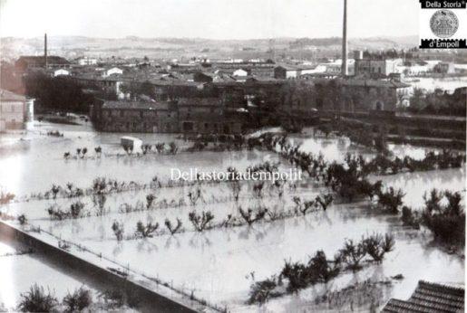 Empoli, Alluvione 1966: attuale zona all'incrocio tra Viale Buozzi e Via A. di Cambio