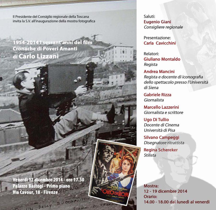 """Firenze: 1954-2014 I Sessant'anni Del Film """"Cronache Di Poveri Amanti"""""""
