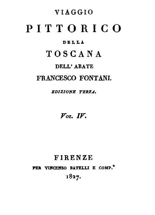 """Empoli Nel Libro """"Viaggio Pittorico Della Toscana"""", Di Francesco Fontani, Terza Edizione"""