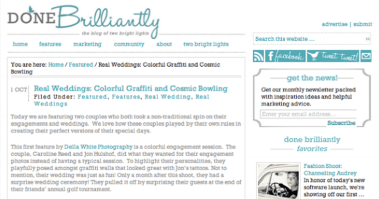 Della White Photography Featured on Done Brilliantly!