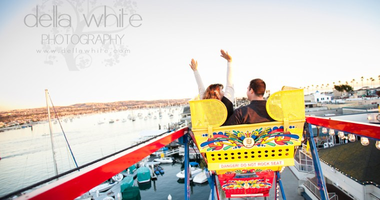 Engagement Session at Balboa Fun Zone with Ashley & Nick