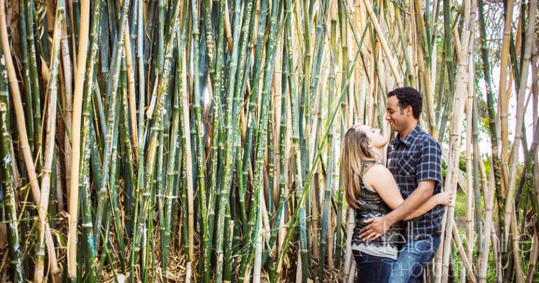 Botanic Gardens Engagement Session in Riverside