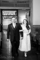 bride and father at old orange county courthouse wedding