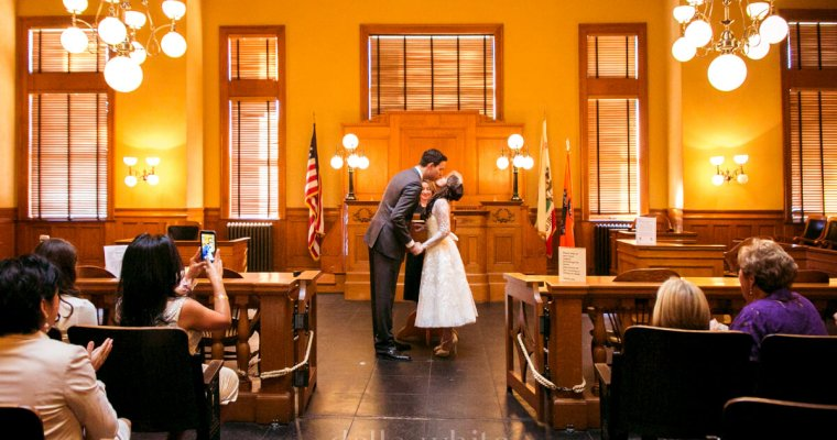 Civil Ceremony Wedding Photography at The Old Orange County Courthouse