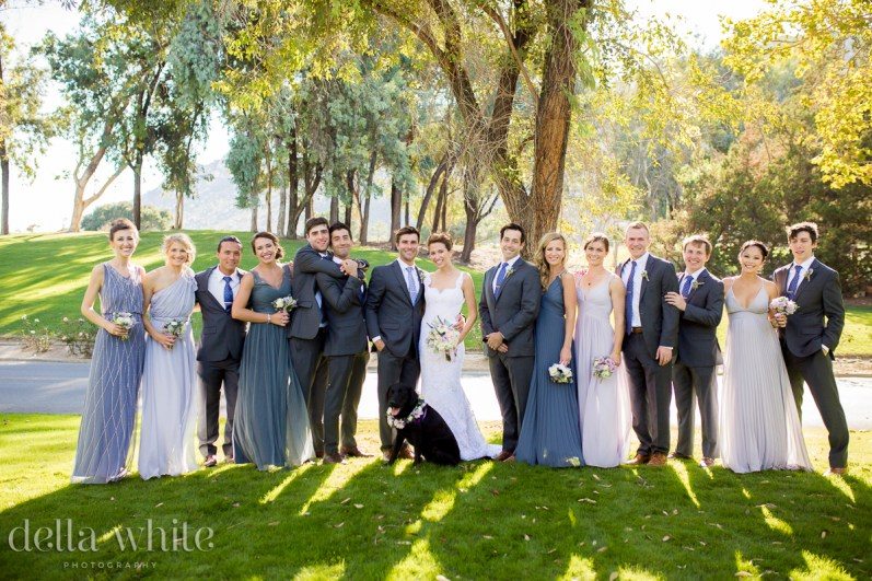 wedding party photo at temecula creek inn