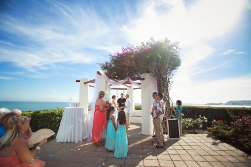 dana point wedding ceremony overlooking the ocean