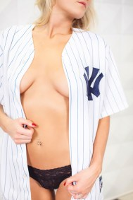 boudoir with sports team gear